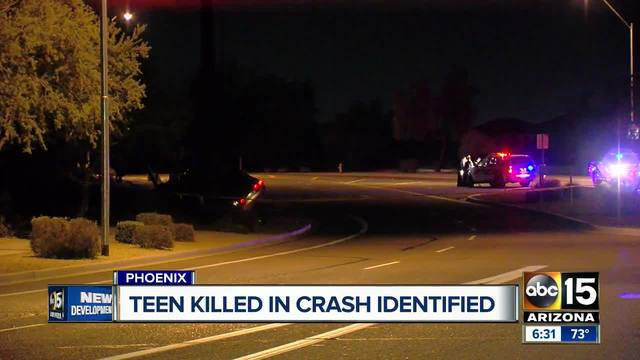 Teen killed in crash identified