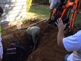 Chandler firefighters rescue dog from 6 ft hole