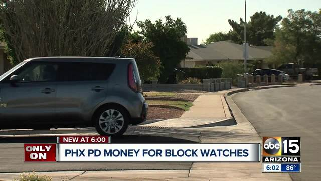 Phoenix PD offering money for block watches