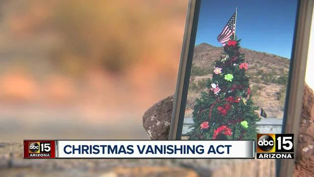 family decorates christmas tree in cave creek grinch ruins it just days later