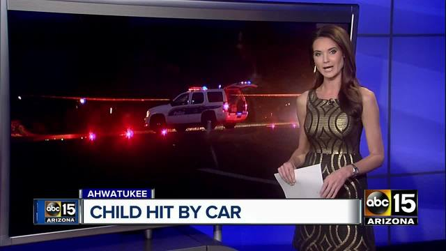 Young child struck by car in Ahwatukee