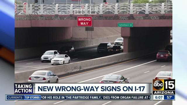ADOT installs overhead signs to alert wrong-way drivers