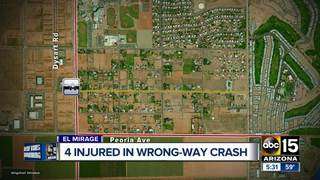 PD: 4 people injured in wrong-way driving crash