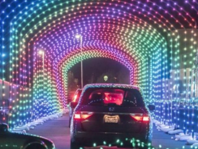 the light display features a one mile drive through 15 million lights its expected to attract thousands of people