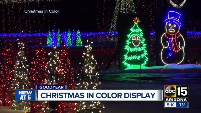 utah based light show christmas in color comes to goodyear