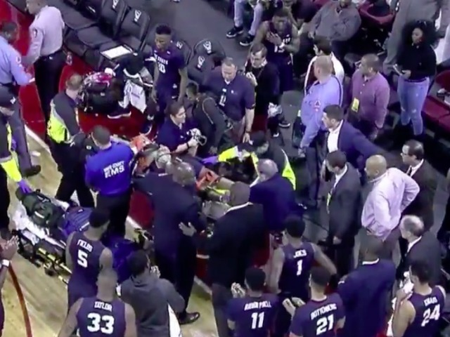 SC State's Ty Solomon 'stable and conscious' after collapsing at PNC Arena