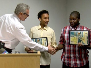 AZ kids honored for saving neighbor from fire