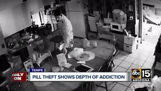 Family catches friend stealing drugs on video