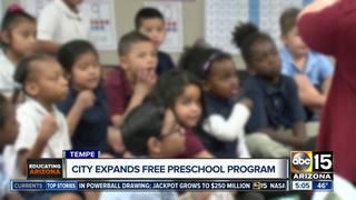 Tempe expanding free preschool program