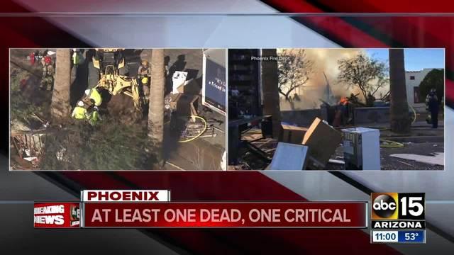 FD: 1 dead, 1 injured in Phoenix house explosion