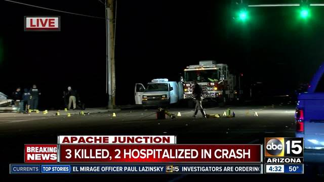 car accident news  Three people dead, 2 others injured in Apache Junction car accident ...
