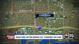 Man dies after being hit by car in south Phoenix
