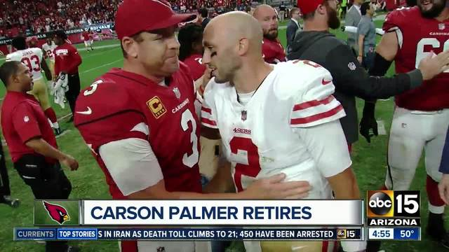 Cardinals Quarterback Carson Palmer Announces Retirement