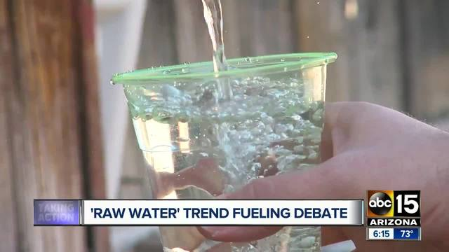 'Raw water' is now a health trend, because of course it is