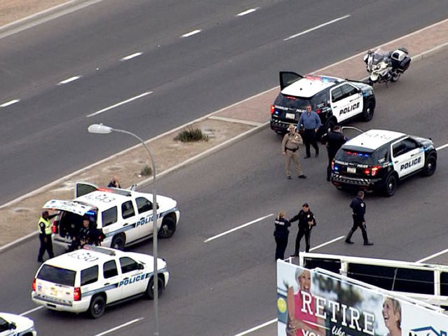 Chandler police searching for suspect in officer shooting
