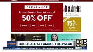 Famous Footwear offering half-off for the family