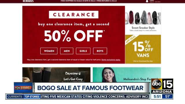 Famous Footwear Offering Half Off For The Family