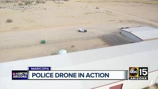 Maricopa police drone deployed to assist calls