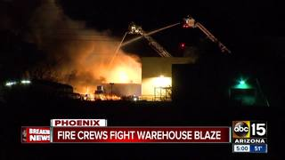Crews fight 2nd alarm fire in north Phoenix