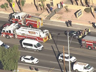 PD: Bicyclist critically hurt after crash in PHX