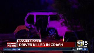 Driver dead after crashing into Scottsdale pole