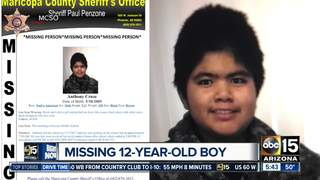 Boy missing after school in Tempe on Wednesday