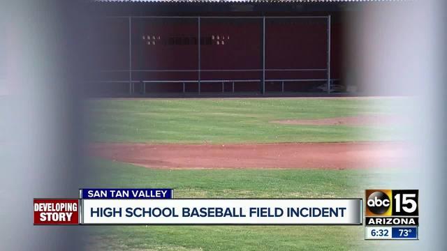 Baseball field incident at San Tan Valley high school