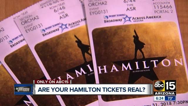 How to spot fake Hamilton Tickets