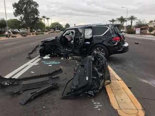 FD: Three critically hurt in Chandler crash