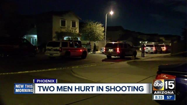 Two shot in south Phoenix- man detained for questioning