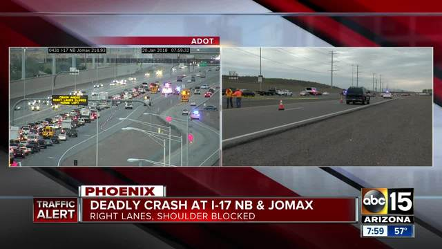 Person killed after motorcycle crash in north Phoenix
