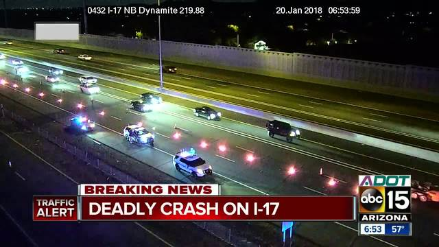 One killed after motorcycle collision on I-17 near Jomax