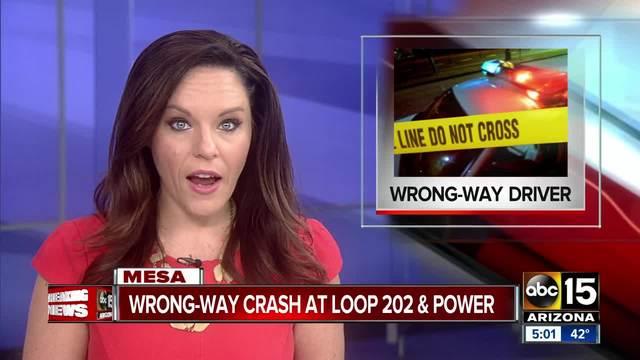 Troopers investigating wrong-way crash in Gilbert