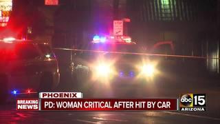 PD: Woman hit by car in Phoenix dies
