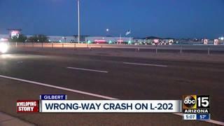 DPS investigating wrong-way crash in Gilbert