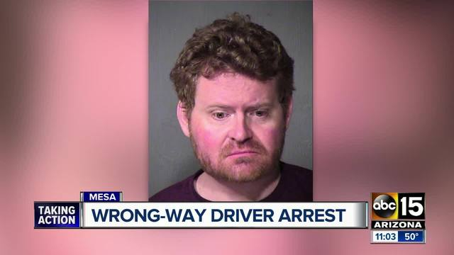 Troopers arrest alleged wrong-way driver in Gilbert