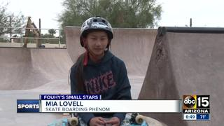 10-year-old skateboarder boasts cool moves