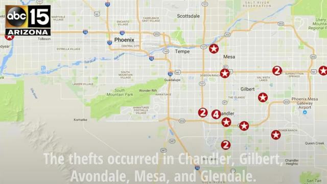 PD Chandler Man Arrested In Thefts Of Home Improvement Stores - Arizona map with cities