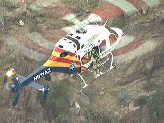 Chopper rescues hikers stranded in Superstitions