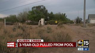 FD: Child found unresponsive in Queen Creek pool