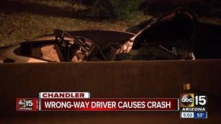 DPS: Wrong-way vehicle crashes in Chandler