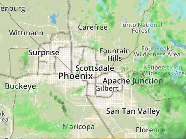 RADAR: Track rain near the Valley