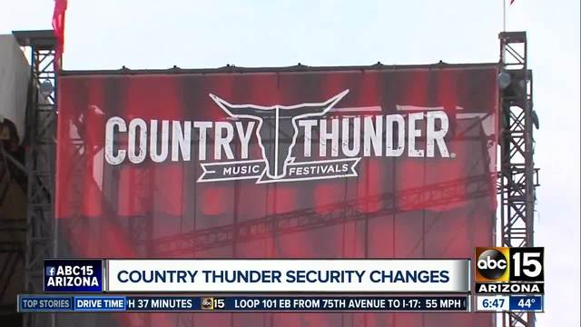Country Thunder adopts -clear bag- security policy