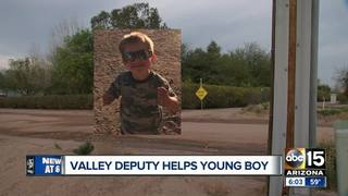 MCSO deputy helps family after boy falls in pool