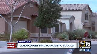 Landscapers find child wandering in Maricopa