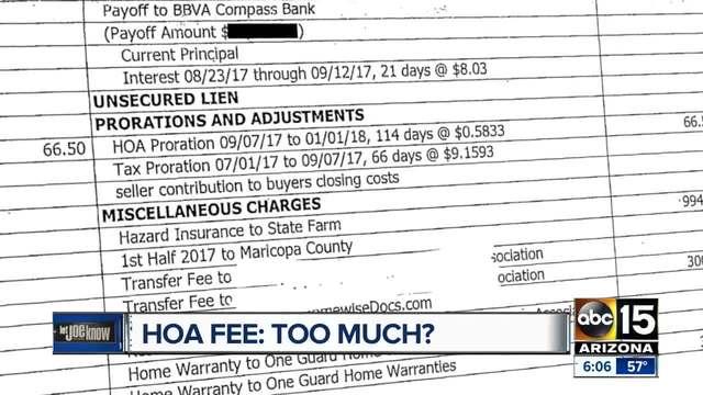 Hoa Fee Where Does The Money Go Abc15 Arizona