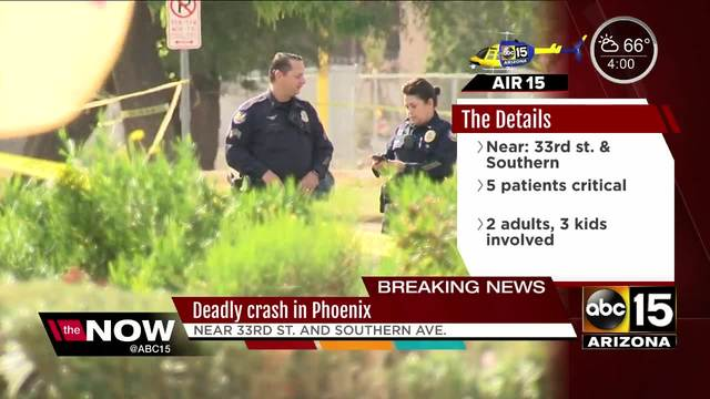 Driver killed, 6-year-old critically hurt in Phoenix crash