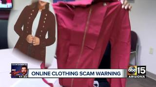 Beware of trendy clothing ads online