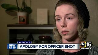 Daughter of suspect who shot officer apologizes