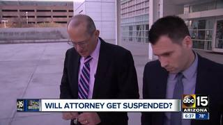Will serial-suing attorney get suspended?